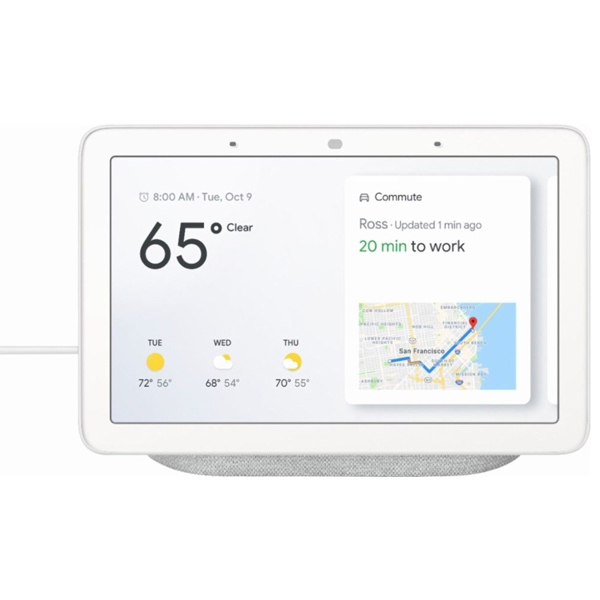 구글 홈 허브(Google Home Hub) Google Assistant Smart 7inch Display : Chalk Grey